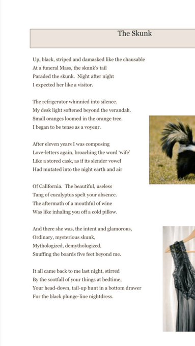 Gorgeous poem on love and longing. Happy birthday Seamus Heaney!