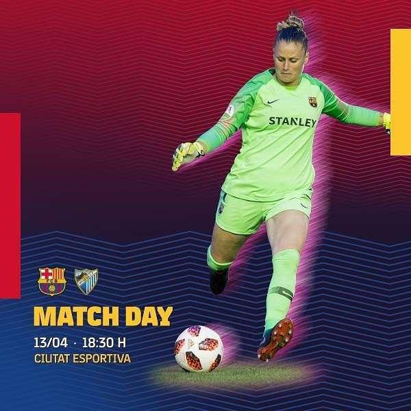 🔥 [MATCH DAY!] 🔥 . ⚽️ @FCBfemeni - @MalagaCFemenino . 🏆 Primera Division Femenina (R27) ⌚️ 10:00 PM IST 🏟 Ciutat Esportiva Joan Gamper  #ForçaBarça #FCBFemeni #wearefootballers