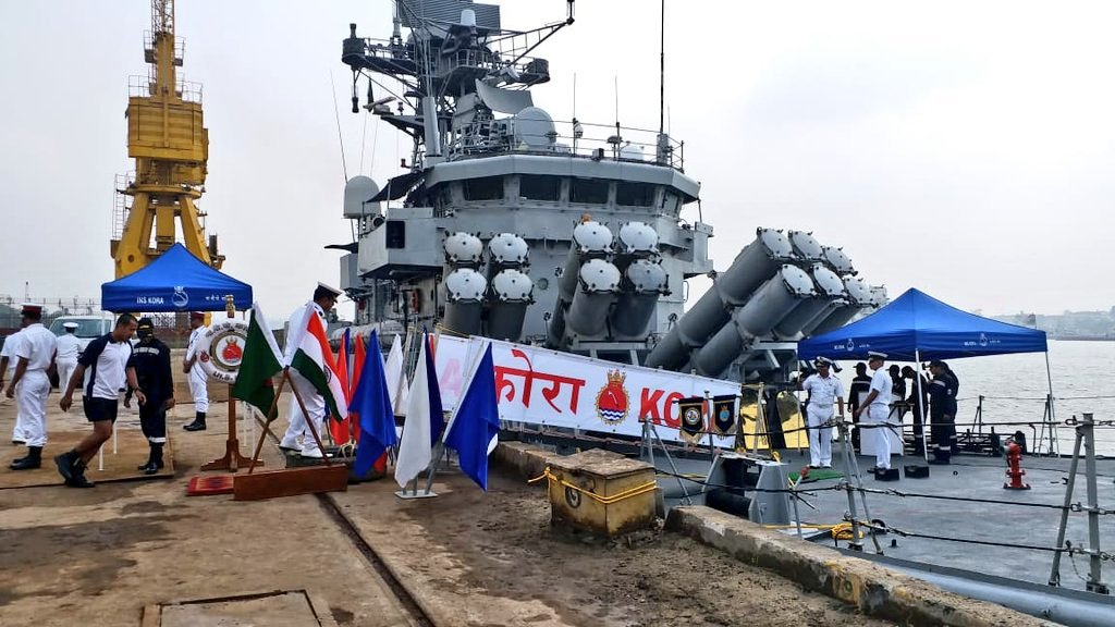 INS Kora arrived #Chattogram port on 13 April on a goodwill visit. The ship will depart to #Visakapatnam on 15 April. As an important aspect of bilateral defence engagement, the port of calls by naval ships strengthen the defence cooperation between #India 🇮🇳 and #Bangladesh 🇧🇩.