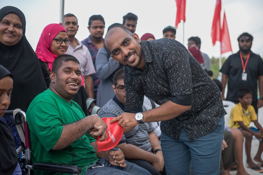 We're pleased to launch BML Fethun Tharin Program with the support of @MDVswim to teach swimming for persons with disabilities.    Swimming is an important life skill and this program will assist in offering a more inclusive environment for persons with disabilities.