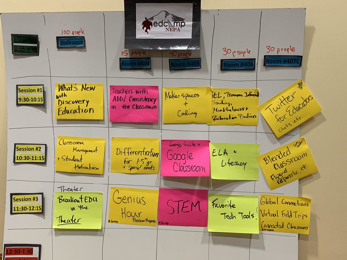 We've got a session board! #EdcampNEPA