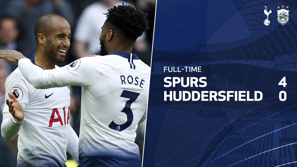 FULL-TIME: @VictorWanyama's opener and a hat-trick from @LucasMoura7 sees us take all three points!   #PL ⚪️ #COYS