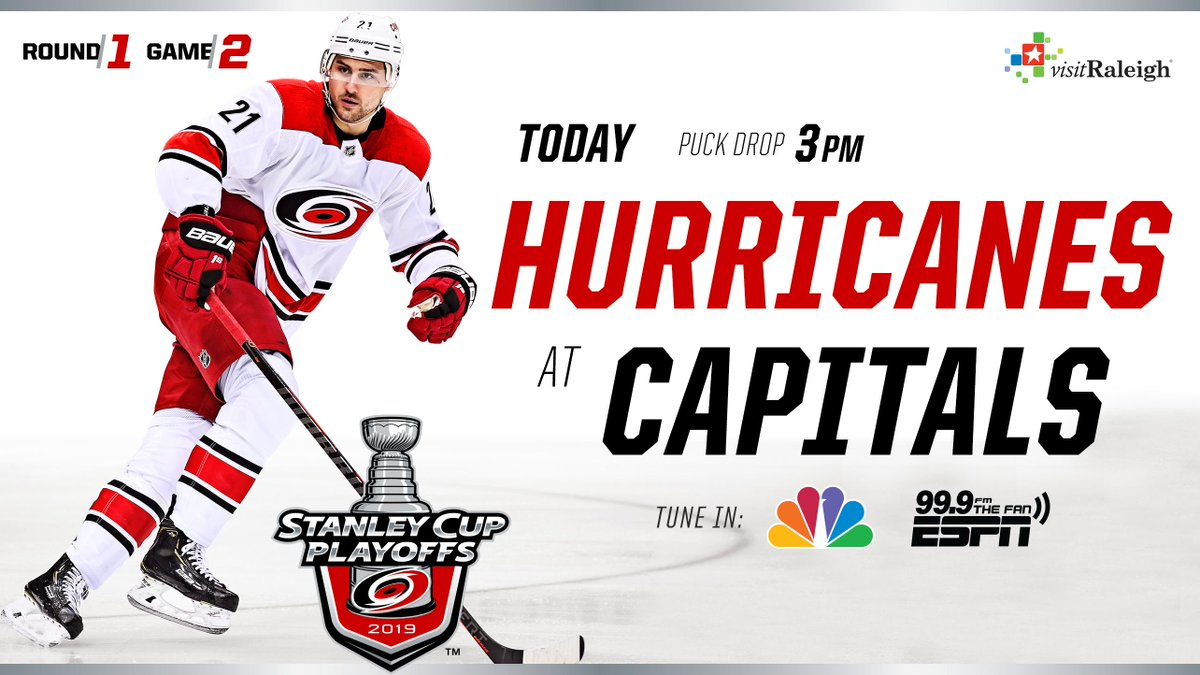 GAMEDAY! #TakeWarning   🕒 3PM 📍Washington, D.C. 📺 @NHLonNBCSports  📻 @999TheFan   Live Stream » http://bit.ly/2D4Ea95 Preview » http://n.carhur.com/2IAPM70