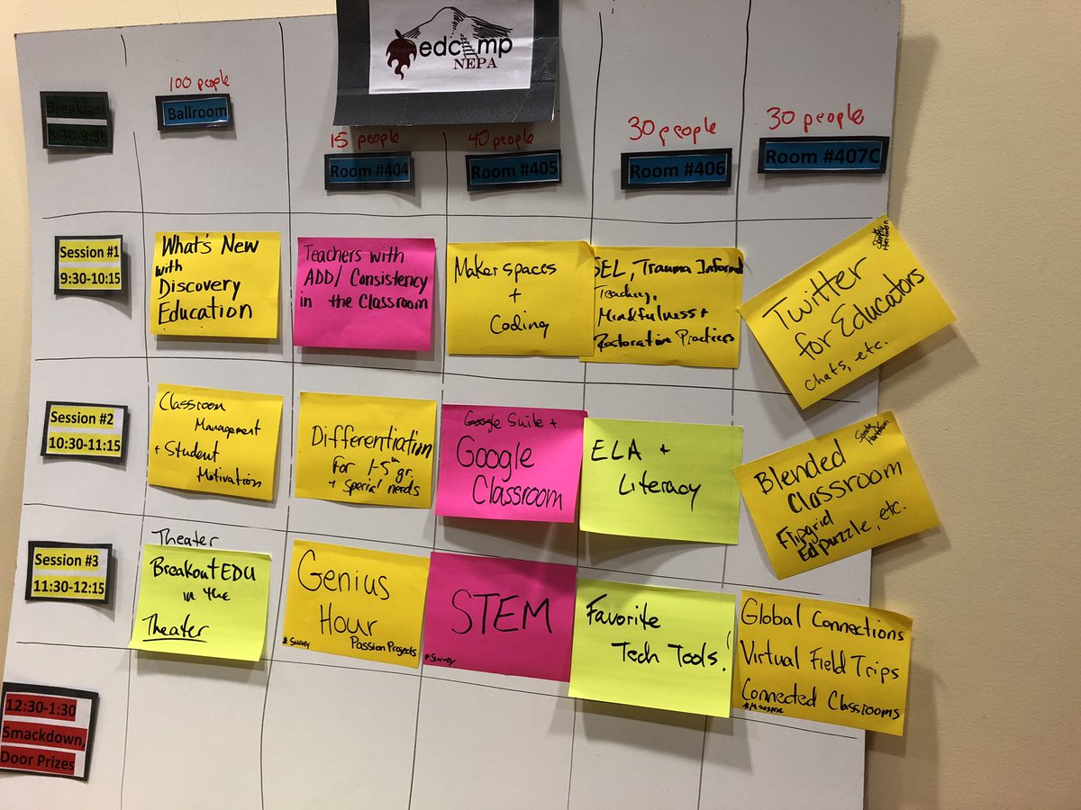 Session board! @EdCampNEPA #edcampNepa