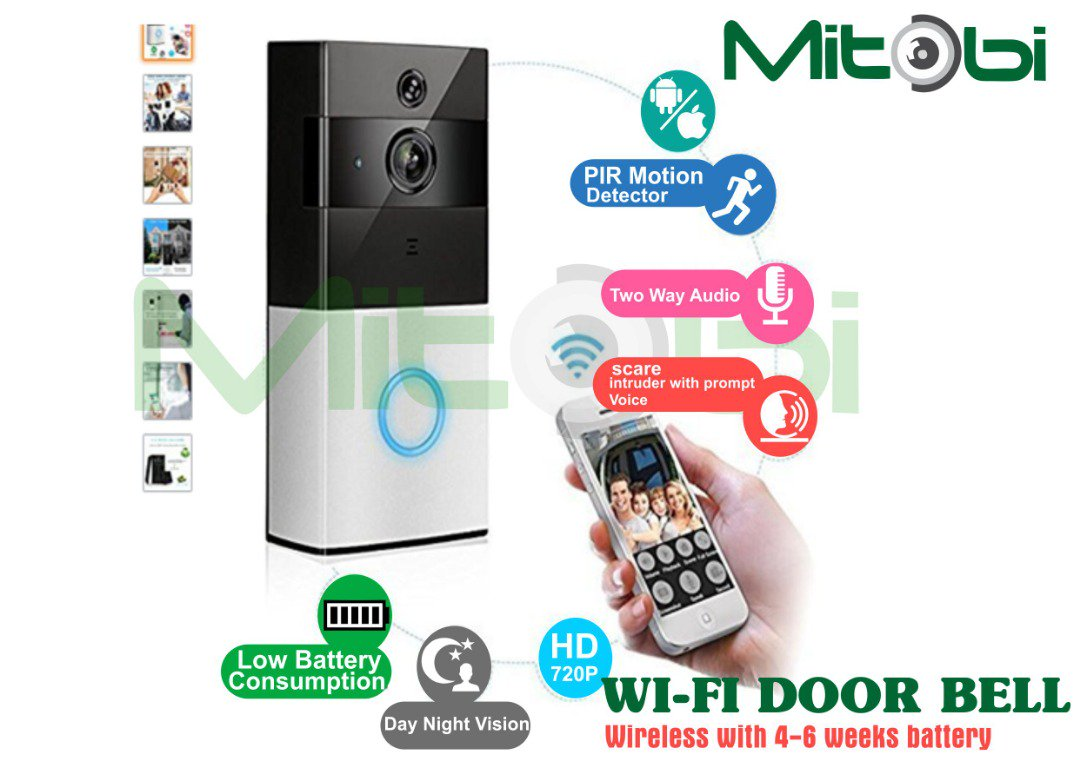 Imagine how good it is to get notification on your phone that a visitor is at your door while at work or anywhere else. More interesting is that you can watch and speak with the guest and give instructions via the phone. Motion sensor, Two way audio,Cloud recording #doorbell