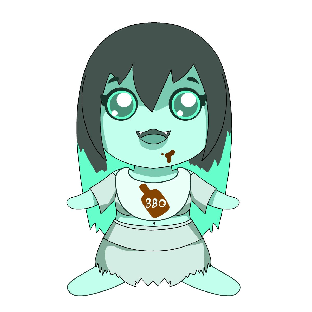 Cute Chibi Porn - Just can't stop eating all that Barbecue. #BBQ #EllaTheGhost ...