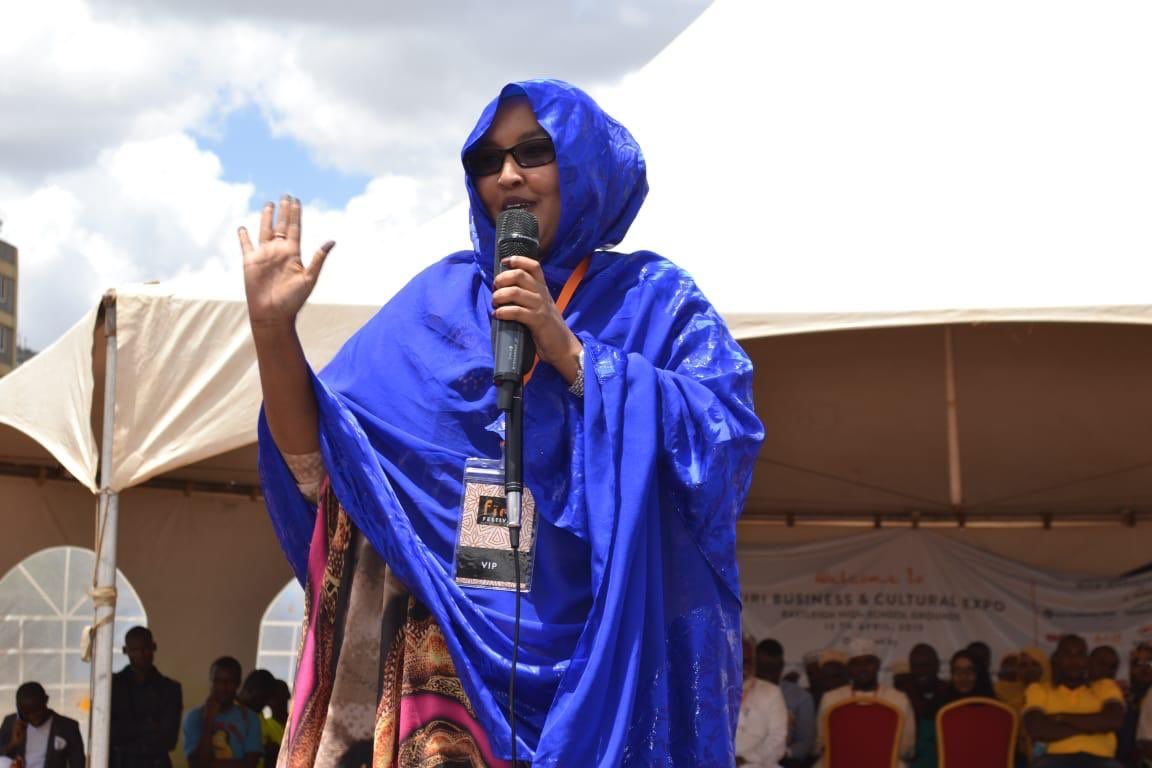 """At the """"Firi Firi Festival"""" today at Eastleigh to appreciate the importance of culture at the heart of business to achieve cohesion and harmony. """"Firi"""" is a Somali word for """"check.""""  It was an event to showcase what Eastleigh has in stock for Kenya and beyond. @Asmali77"""
