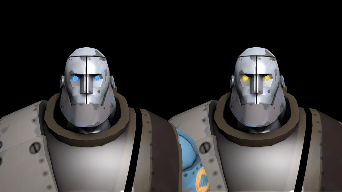e9d1f2118fd Did you know that the eye colour of the robots in MvM is determined by  their difficulty  Blue eyes for Easy Normal