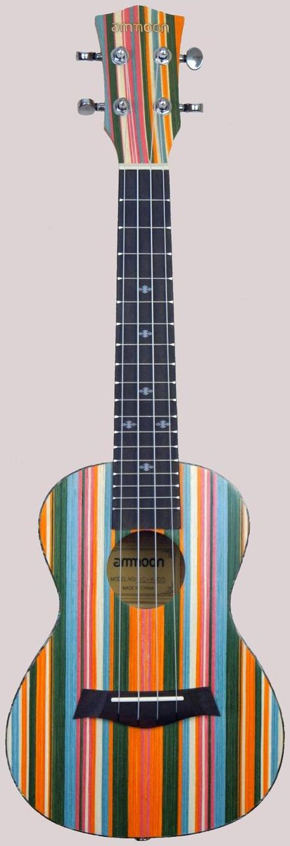 Ammoon uc-kj05 Stripy Concert ukulele