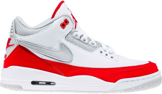 arrives 403b3 babf7 air jordan retro 3 tinker university red mens white university red grey  shipped 19499 use code