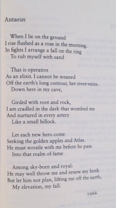 Happy birthday to one of my favorite poets, Seamus Heaney!