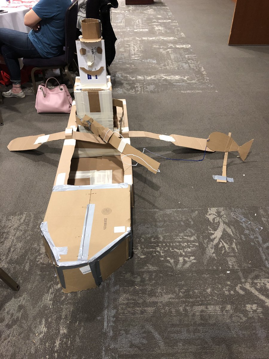 Great job by all who got creative for the cardboard challenge! #edcampNEPA