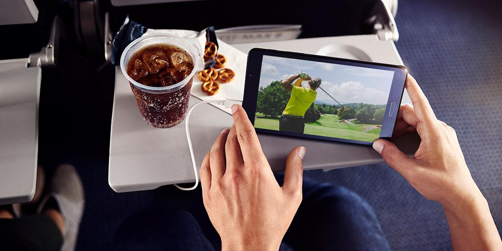 Watch every drive while you fly! 🏌🏽‍♂️⛳️  See who takes home the green jacket with live TV during your flight. 📺 http://bit.ly/2v2PmOT