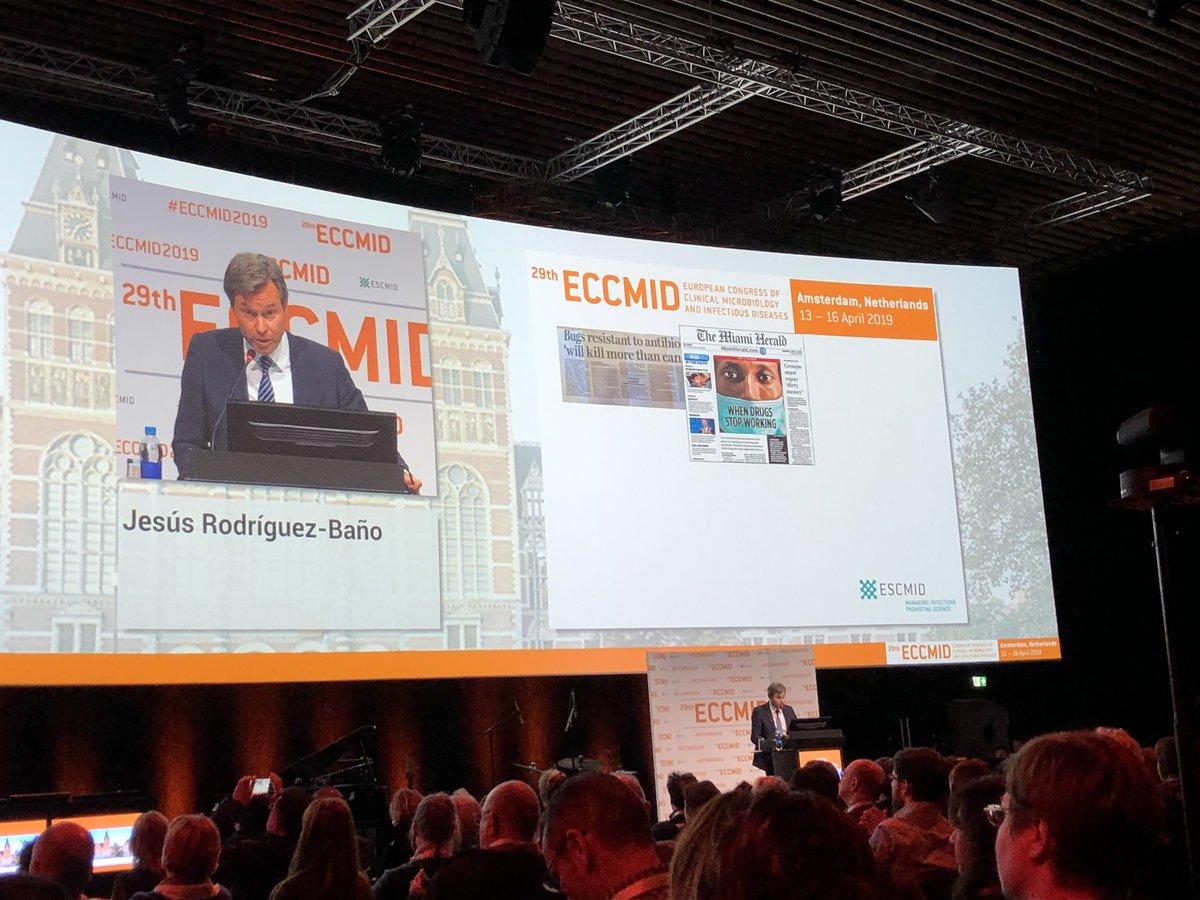 ECCMID2019 Opening Ceremony  President @jesusrbano
