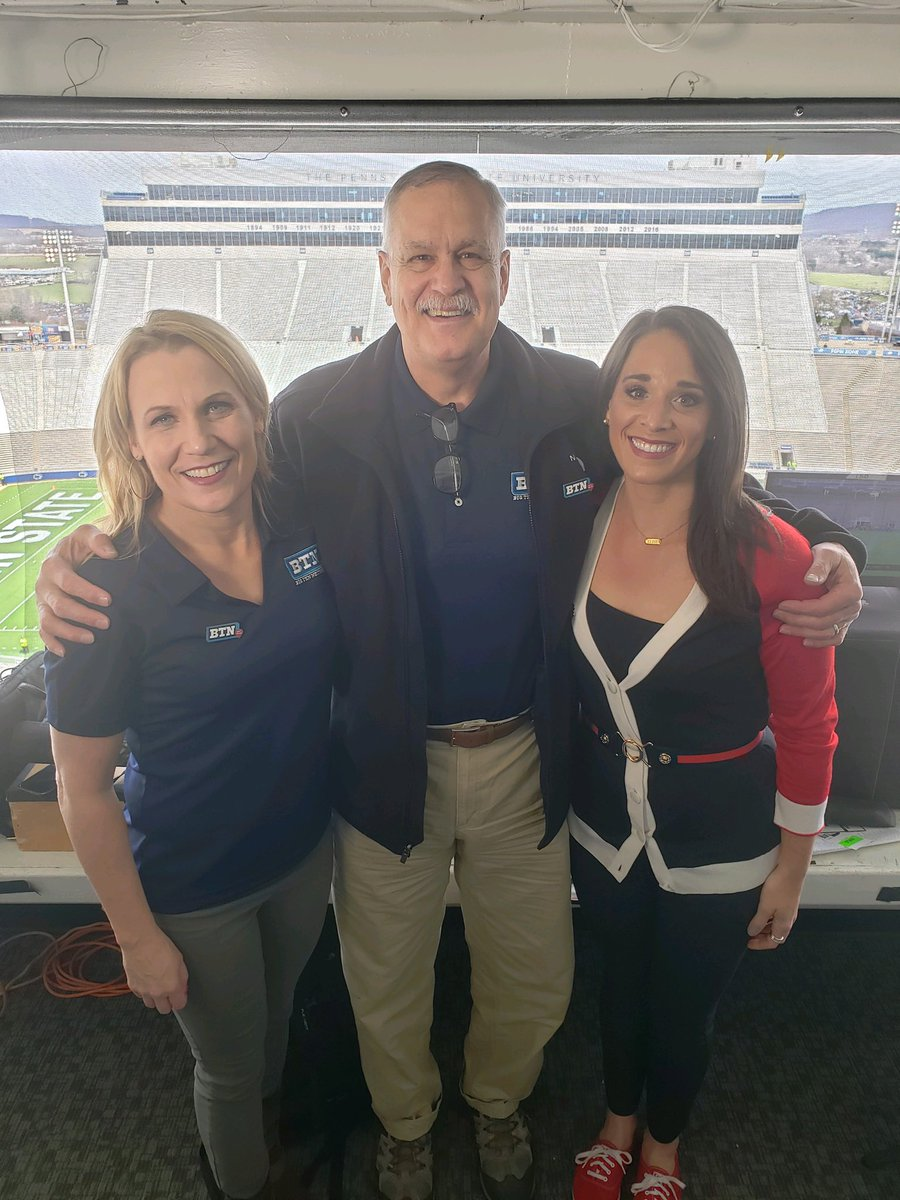 Amazing to have Matt Millen back in the booth for the first time since his heart transplant 4 months ago. A lot of well wishes and spirit and support from his TV family can't be in this photo today,but they are strong. Join us tonight on @BigTenNetwork at 8e @PennStateFball