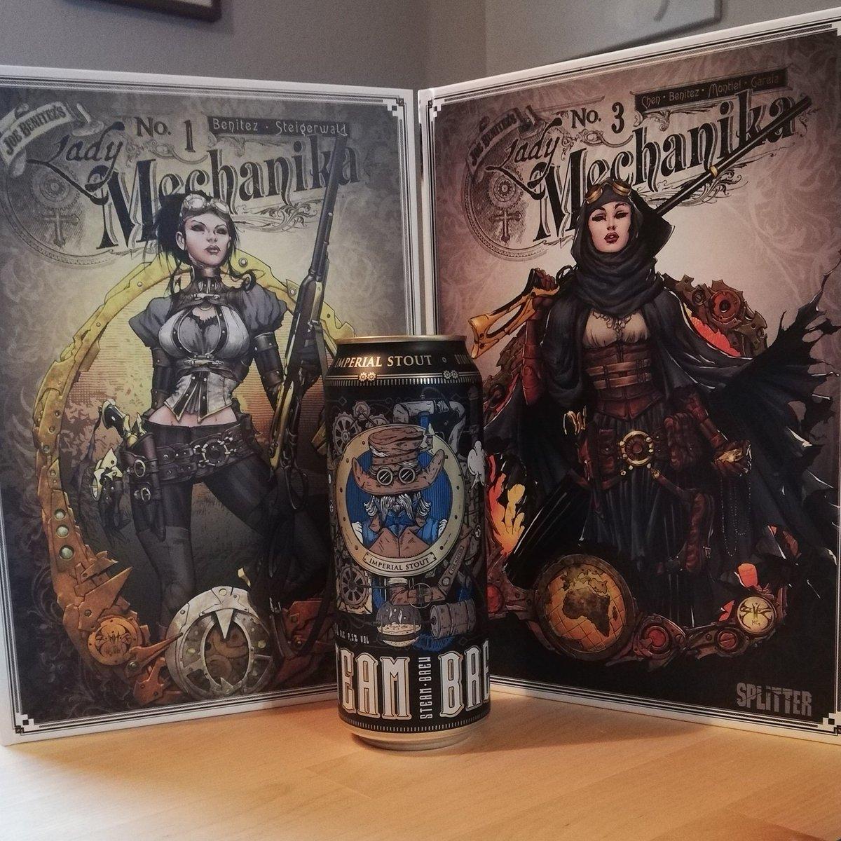 Dieses Steampunk Bier passt einfach zu gut zu Lady Mechanika. Nächste Woche endlich den neuen Band holen #steampunk #LadyMechanika #bier