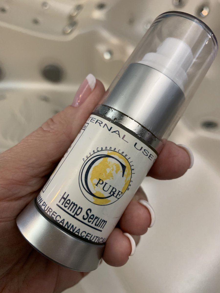 I am 53 & this is so moisturizing. It smells amazing!   My skin is so soft after applying. Come try it yourself at the store! @miragespa.stlouis.hottubs #skinserum #sosoft #natural #antibacterial #purecannaceutical #spaproducts #hempserum #cbd https://t.co/MzQRYIzR5E