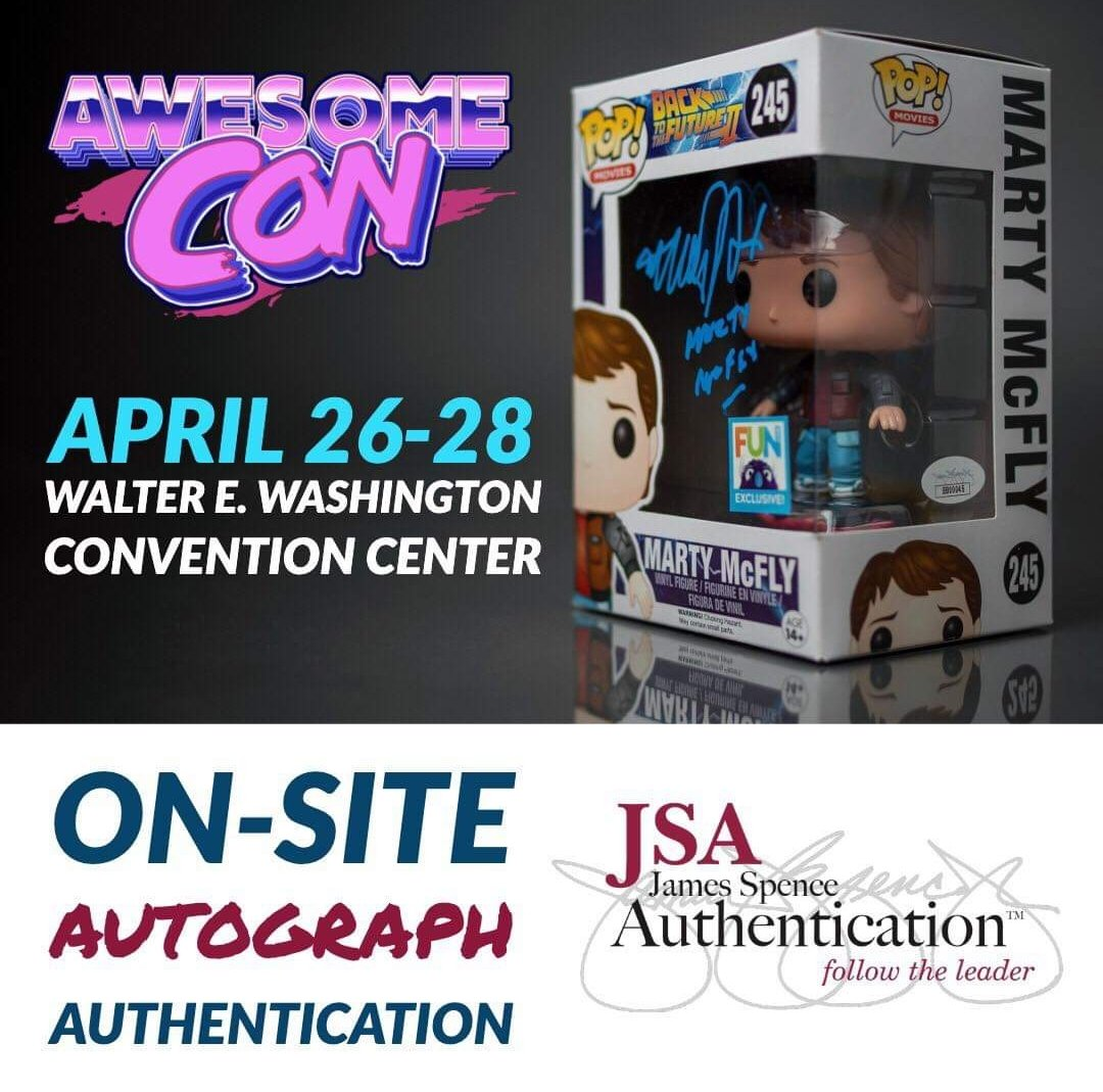 Stop by the @JSALOA booth at Awesome Con and receive a discounted certification of $10/autograph for all signers at the show. ✍️ Outside autographs can be submitted for fees listed on http://JSALOA.com   ✅ Forever certify your signed collectibles. 🔍  #awesomecon #jsa