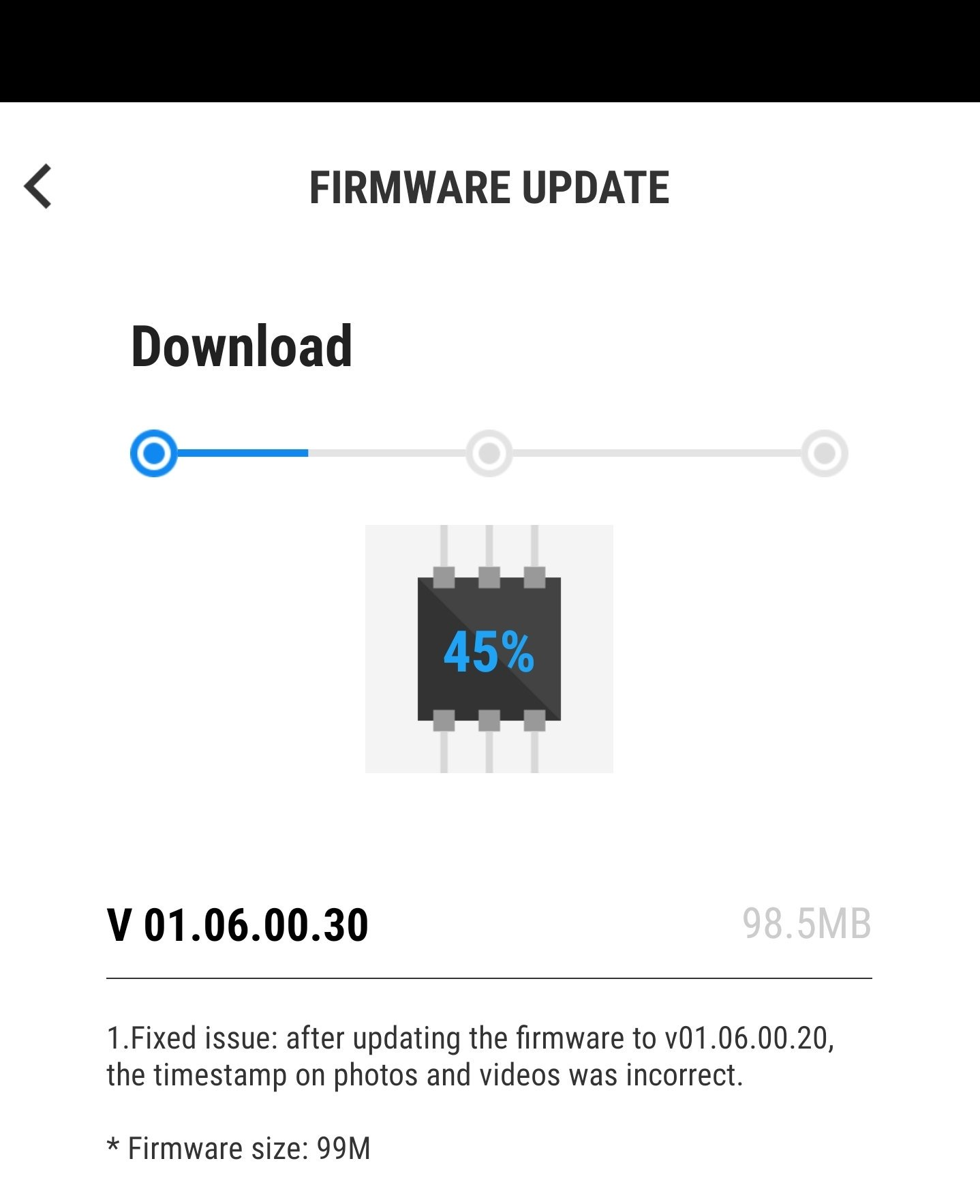 The latest DJI Osmo Pocket firmware update