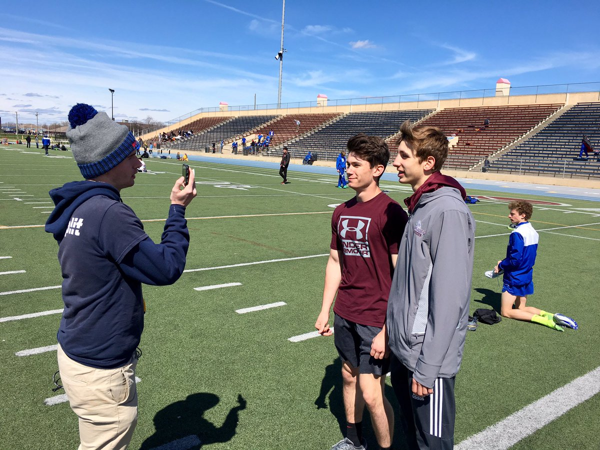 Fast freshmen hurdlers getting some interview love from @MileSplitIL!!!  Gabe Czako and Jake Collins  #PorterPride