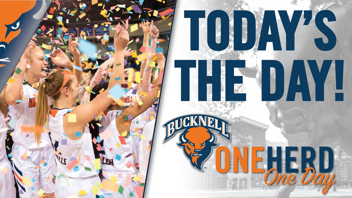 It's #OneHerdOneDay! Your gift supports:  ☑️ 27 varsity teams ☑️ 750+ student-athletes ☑️ Our scholar-athlete mission  Info: http://bucknell.edu/OneHerdOneDay