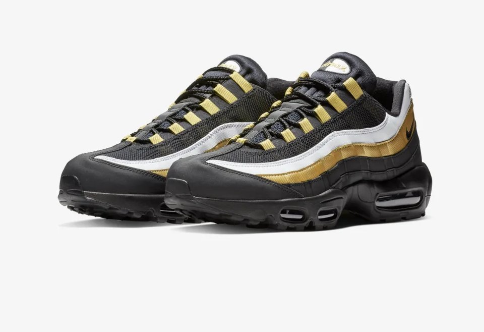 b56681ea5cdc  SneakerScouts The Nike Air Max 95  Black Metallic Gold  is now available