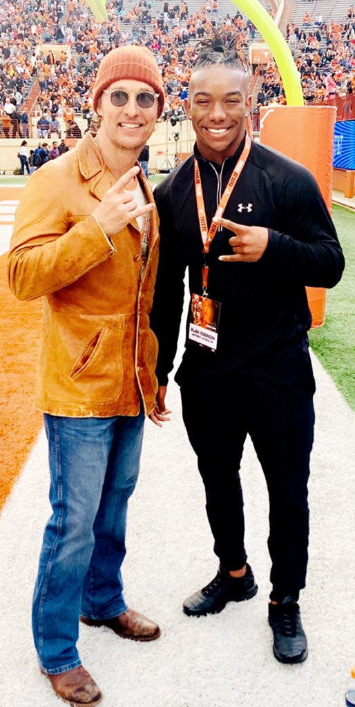 Matthew McConaughey Met With A 5-Star Recruit During Texas' Spring Game