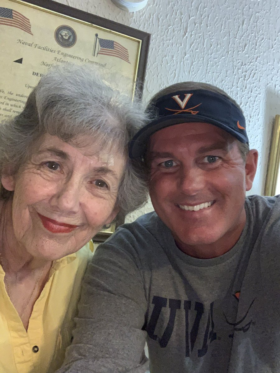 My mom who is in a nursing home wants this photo to get 1000 likes. Come on Twitter do your thing !!!! Mother / Son date today #WAHOOWA @UVAMensHoops @BarstoolUVA