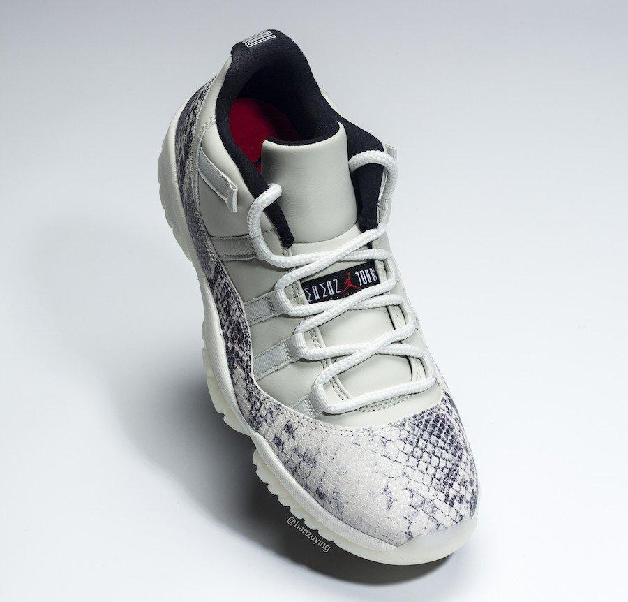886d4eb19435 Release Date  Air Jordan 11 Low Snakeskin  Light Bone  - June 1