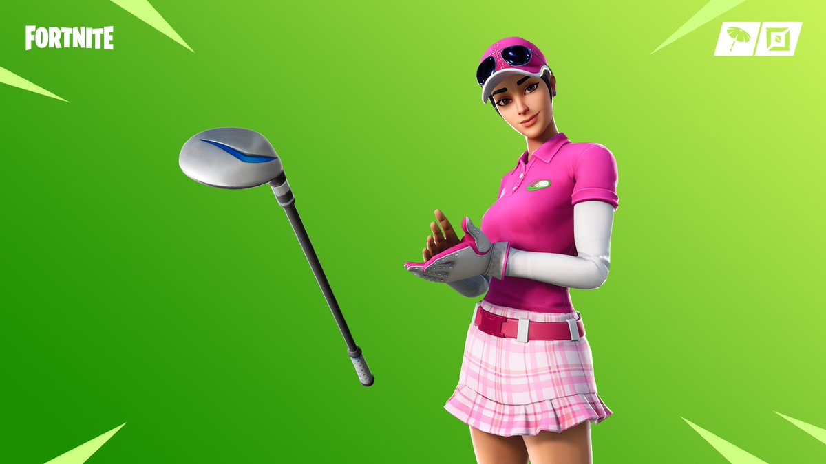 🏌️♀️ FORE!!! ⛳️  Grab Birdie and her Driver Pickaxe in the Item Shop! The Magma Wrap returns to the Shop too!