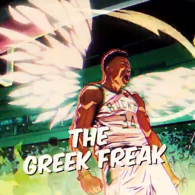 'THE GREEK FREAK'  @Giannis_An34 x #NBAPlayoffs   ��: (8) DET vs. (1) MIL, Game 1  ⏰: 7pm/et ��: @NBAonTNT https://t.co/7mnTpq7Z8J