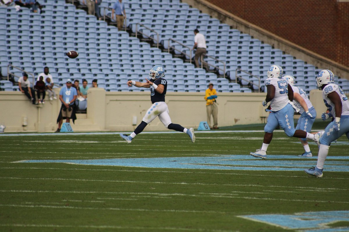 Great spring game for the Tar Heels including a 44 yard fumble recovery by #29 FR Storm Duck.  Log on to http://www.ADSN1.com  for updates and feature content.  Tar Heels  10 Carolina    24  #goheels #unc #springfootball #mackbrown