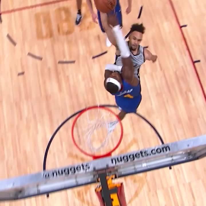 The Colorado kid Derrick White caught a BODY tonight in Denver. 😤  #GoSpursGo | #NBAPlayoffs