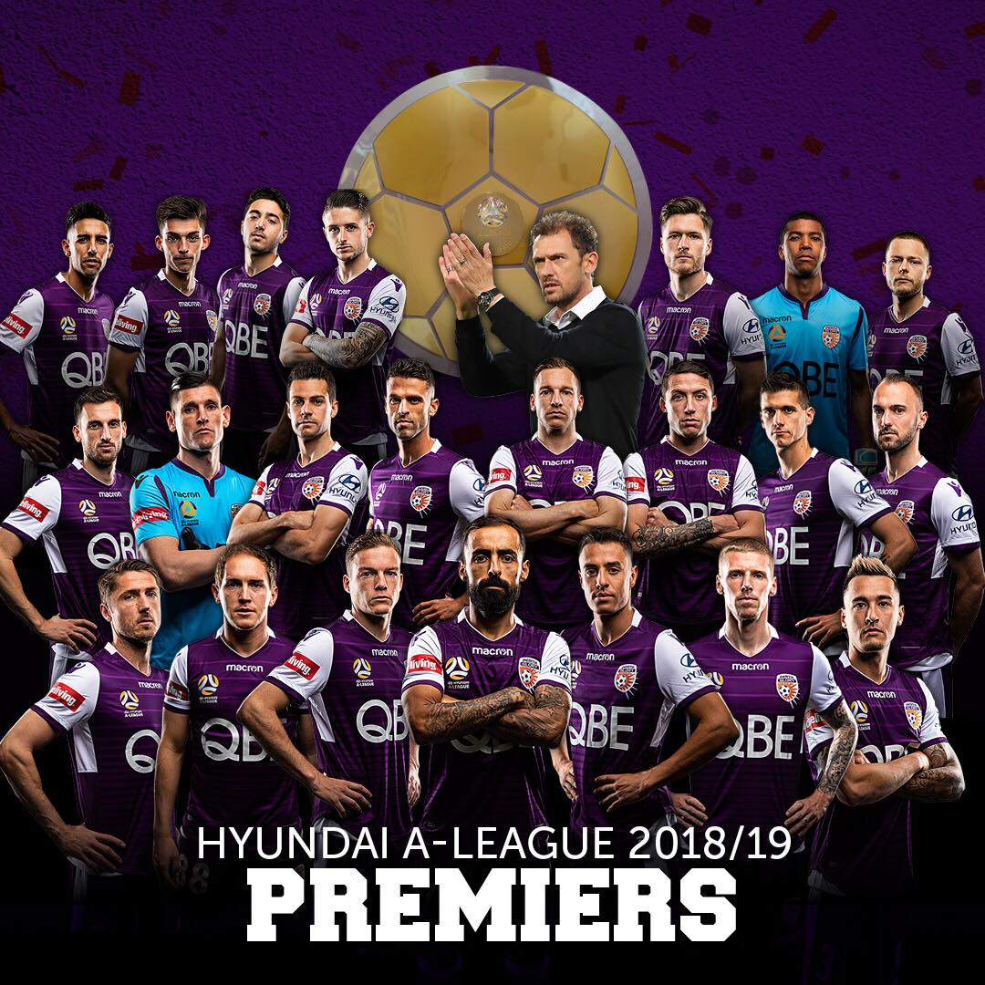 HISTORY IS MADE! It's confirmed, @PerthGloryFC are your @ALeague Premiers!