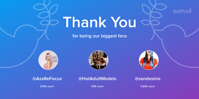 test Twitter Media - Our biggest fans this week: @AssReFocus, @HotAdultModels, @sandssims. Thank you! via https://t.co/hGVQKGwS8E https://t.co/F4XfHXlRly