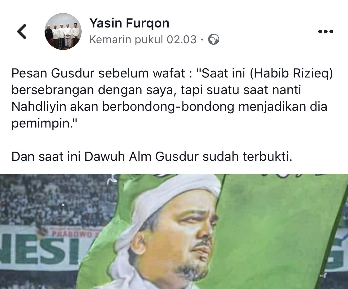 Assalamualaikum. Banyak yg nyebarkan ini di fb. Apa benar ning @AlissaWahid, gus @na_dirs, @savicali , @Stakof https://t.co/0C3KzRjSCt