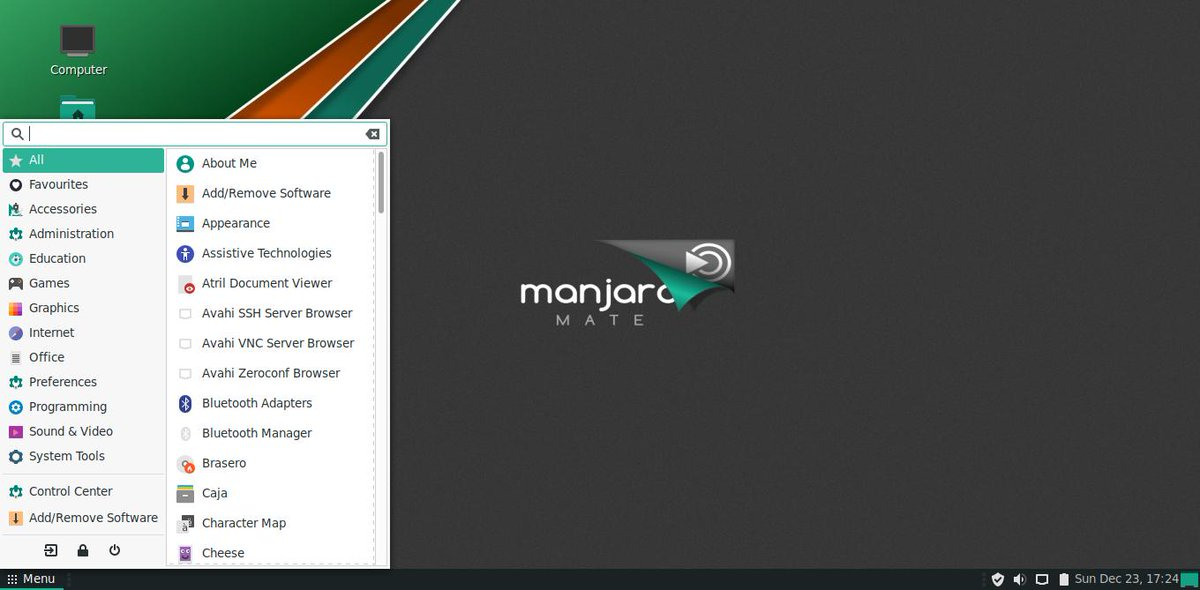 Thanks to Stefano we again have a fresh Manjaro-Mate release