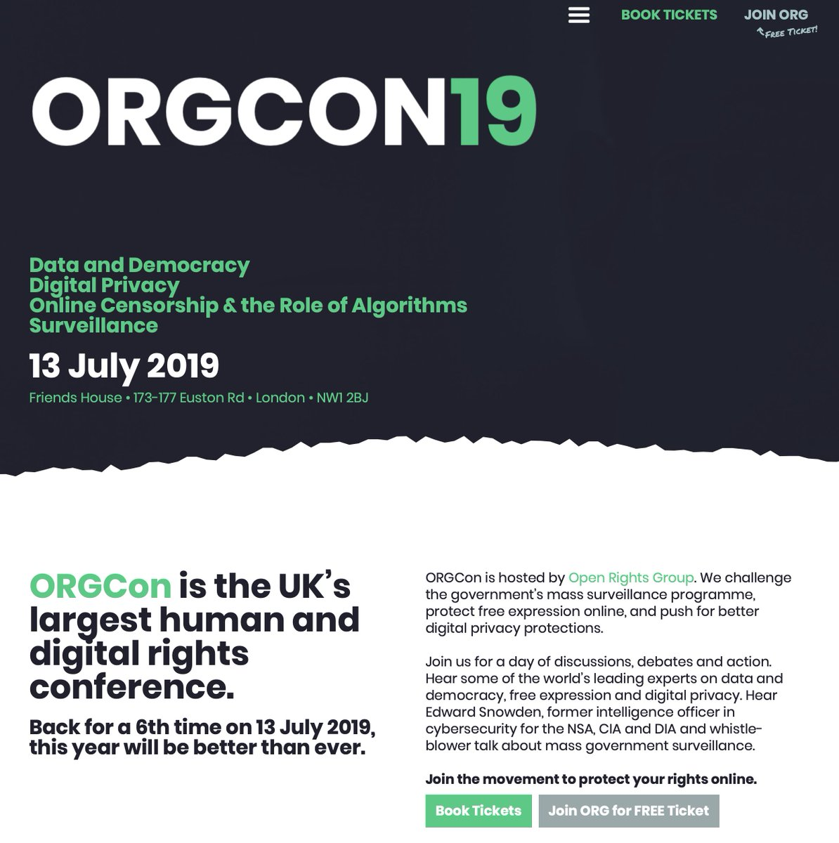 So: don't listen to the haters, they're just scared.  Also: if you care about digital rights, consider coming to #orgcon2019 on 13 July 2019 in London, with keynote speaker Edward @Snowden:   https://orgcon.openrightsgroup.org/2019/