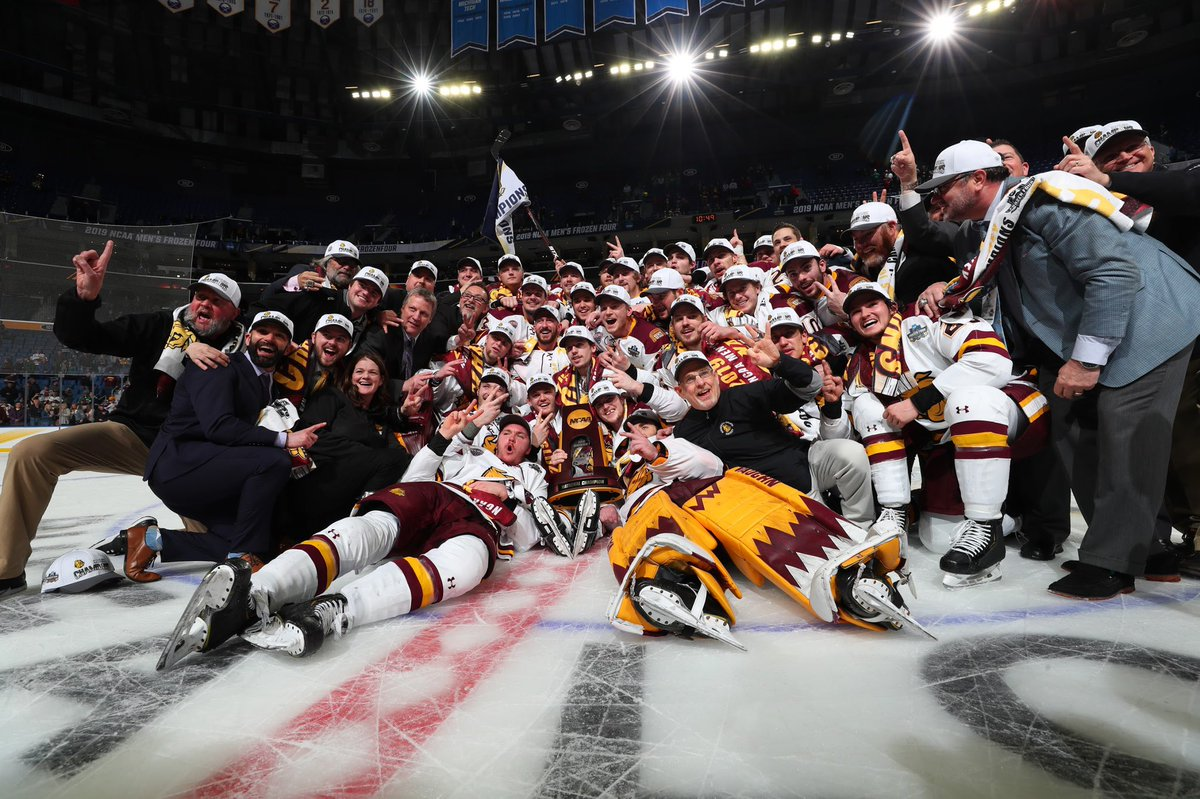 Congrats, @UMDMensHockey!   Thank you to @NCAAIceHockey. We are so happy to have hosted the #FrozenFour! 🙌
