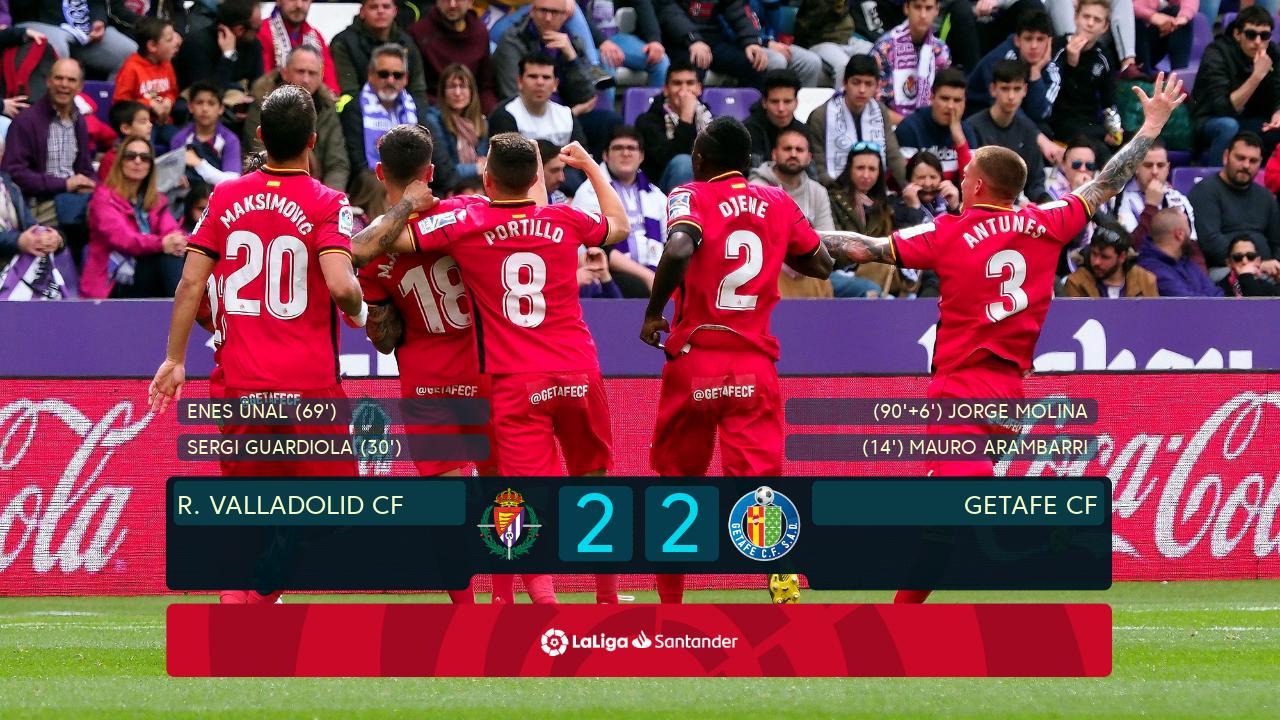 Real Valladolid CF vs Getafe CF - Highlights, Goals, Video & Match Stats