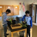 Image for the Tweet beginning: Students at the CEC repotted
