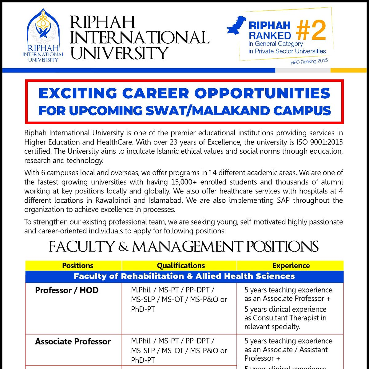 Riphah University (@Riphah) | Twitter