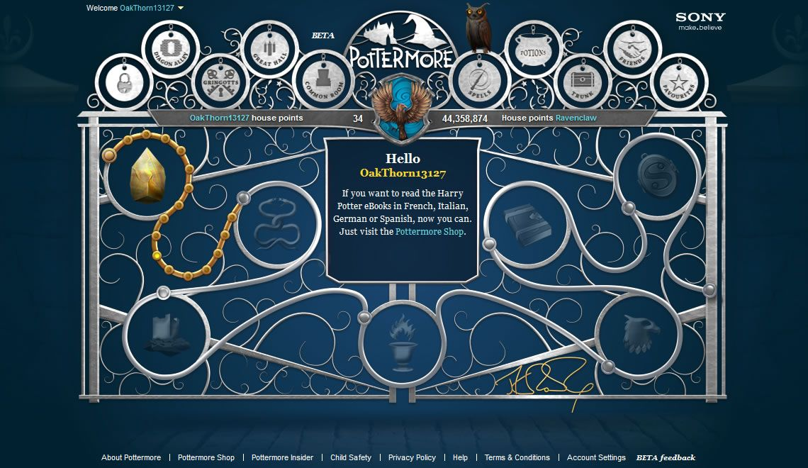 On this day in 2012 Pottermore officially launched! Who else remembers the original home screen? <br>http://pic.twitter.com/GMSGQkZjlQ