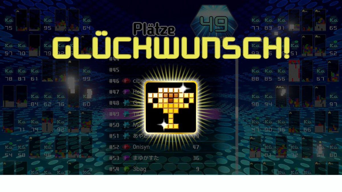 Jetzt habe ich auch die 100 Punkte zusammen! #Tetris99 #Tetris #NintendoSwitch