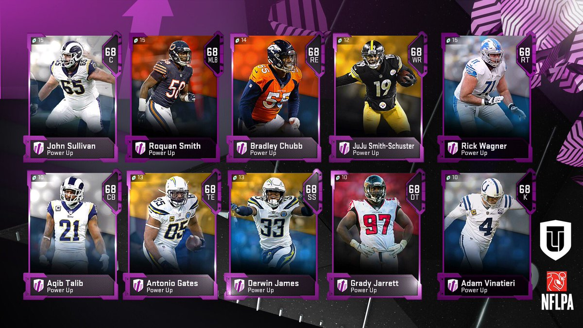 ICYMI: @Muthead reveal of today's Power Up Players.   Keep sharing requests in the comments! (Chris Jones?) #Madden19