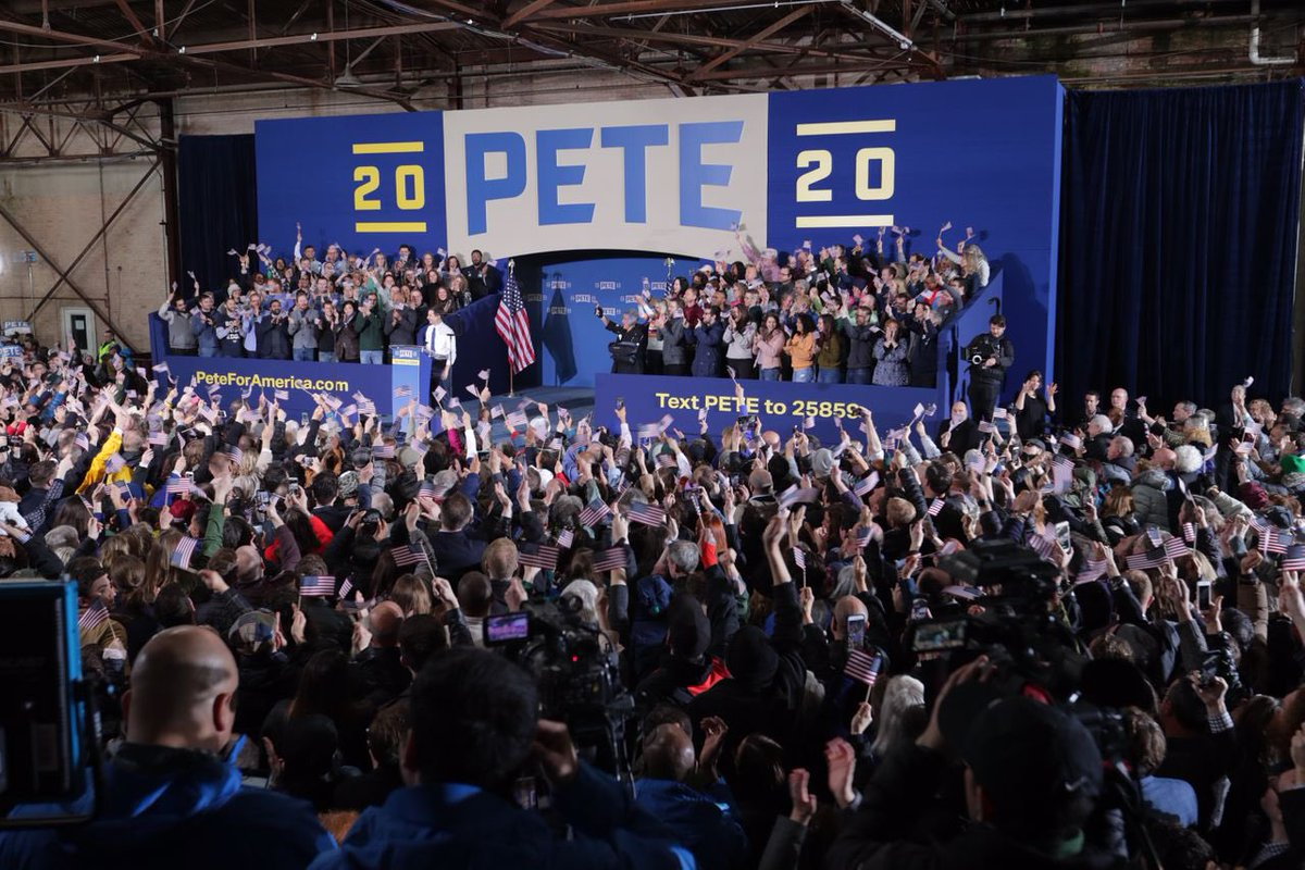In a lifetime of following politics, the only time I have heard as excited a reaction to a campaign as I heard today about @PeteButtigieg's launch was @BarackObama in 2008 and Ronald Reagan in 1980.  Yes, it's very early. But the reaction has been remarkable.