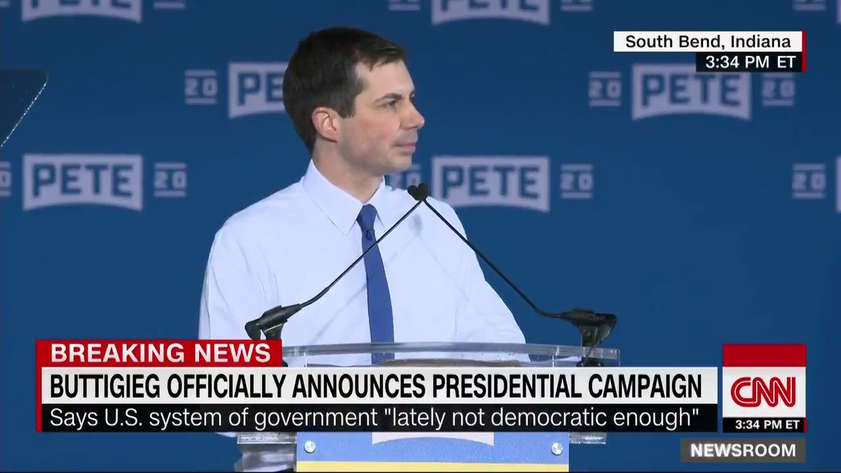 """.@PeteButtigieg: """"We can't say it's much of a democracy when twice in my lifetime, the Electoral College has overruled the American people ... Let's pick our President by counting up all the ballots and giving it to the woman or man who got the most votes"""" https://cnn.it/2X8jnsE"""