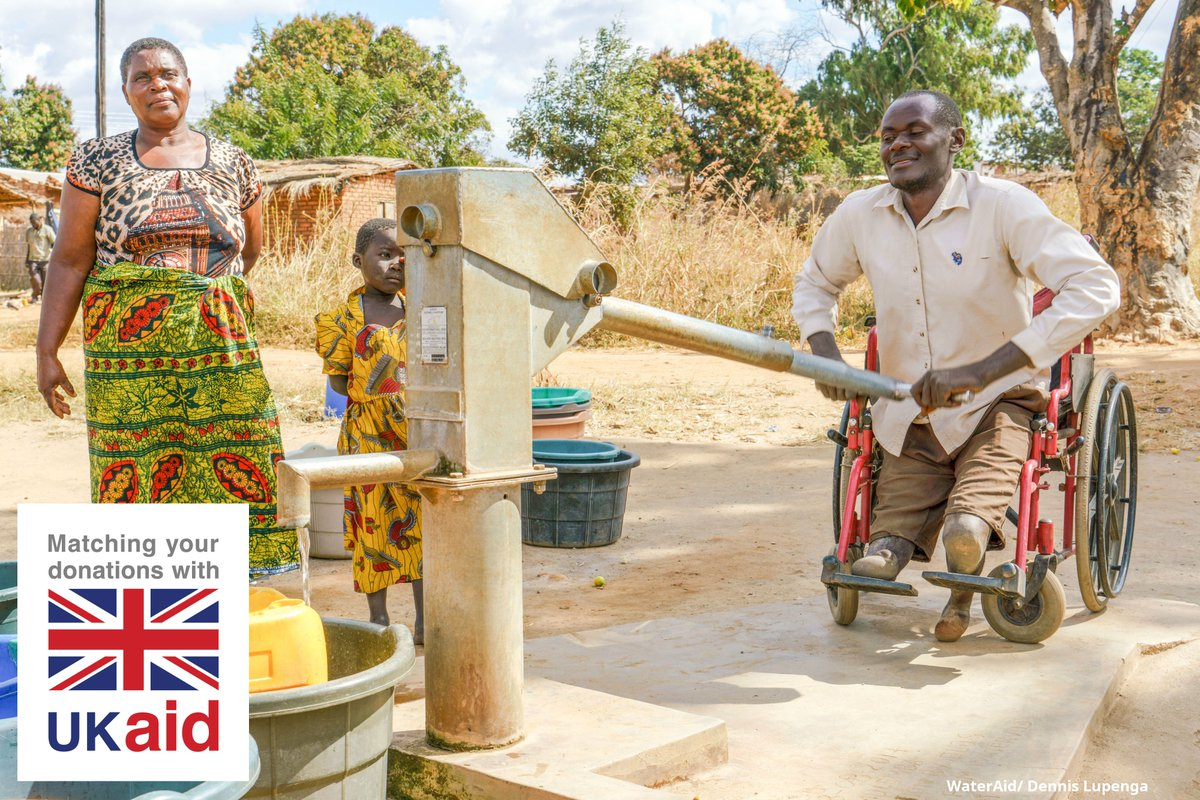 Without clean water, equality is impossible.  Making this human right accessible is crucial and thanks to UK aid from the British people with @DFID_UK, our Deliver Life work has included facilities designed to be accessible to all.