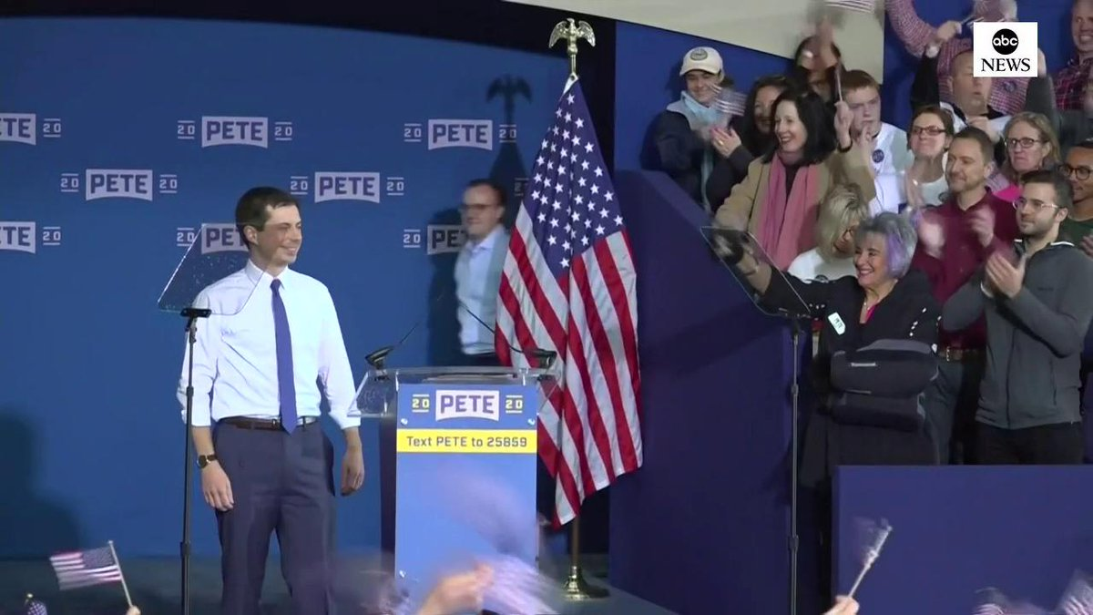 Joined by his husband Chasten on stage, Pete Buttigieg, the little-known mayor turned 2020 contender, makes a historic presidential bid.  If elected, he would be the first openly gay president to occupy the White House: http://abcn.ws/2KBTy2T