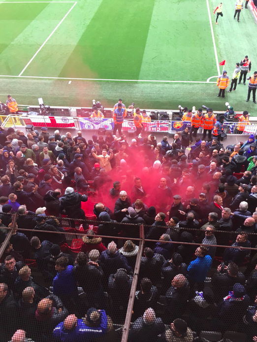 Chelsea fans:  ・ Observed Hillsborough silence impeccably ・ Refrained from any offensive chanting  Liverpool fans:  ・ Threw flare into away end endangering supporters ・ Chanting homophobic songs  Liverpool Football Club - Ashamed by nothing, offended by everything.